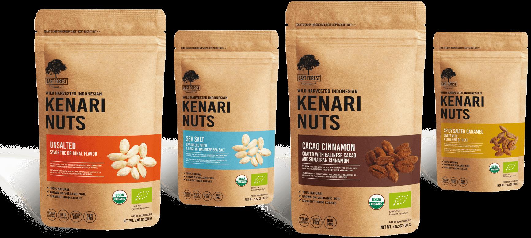 Nungesser Produkte   Kenari Nüsse   4 Sorten